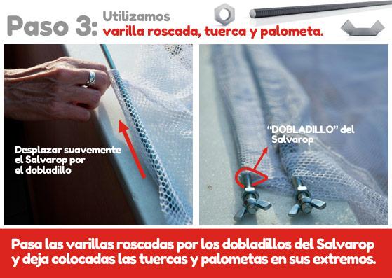 Preparacion del salvarop para instalarlo sobre el tendedero de ropa